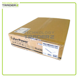 PDU15MHVIEC12AT Cyber Power 12-Outlets 200-240V 15A 1U PDU * Factory Sealed *