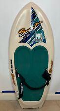 """Vintage 1994 Hydroslide Pro Sport Kransco White Cyan 53"""" Knee Board"""