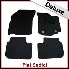 FIAT SEDICI 2006-2014 Tailored LUXURY 1300g Carpet Car Floor Mats BLACK