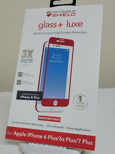 ZAGG Invisible Shield Glass+ Luxe Screen Protector iPhone 6, 6s, 7, 8 PLUS - Red