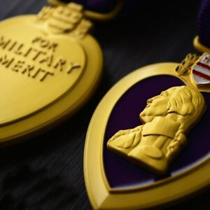 Top Quality American USA army purple Military Medal chest badge