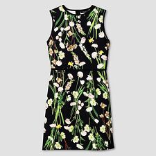 Victoria Beckham for Target Womens Black English Floral Satin Dress - S (Small)