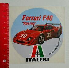 Aufkleber/Sticker: Italeri - Ferrari F 40 Racing - Modellbausatz (150716176)