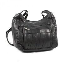 FASHION WOMEN'S MOST POPULAR TOP LEATHER SHOULDER BAG ORGANISER BLACK HANDBAG