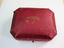 VINTAGE GENUINE ROAMER LUXURY TOOLED RED LEATHER WATCH BOX!