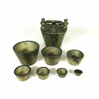 Heavy 60 Oz Antique Brass Apothecary Nesting Cup Weights