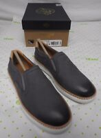 Sperry Top Sider women's size 5.5 M gray Rey gold cup shoes leather loafers