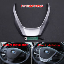 Chrome Style Steering Wheel Cover Trim For BMW X3 F25 X4 F26 X5 F15 2014-2016