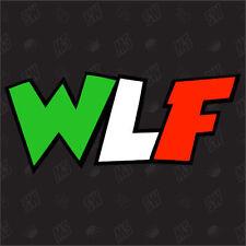 WLF - Moto GP ÉTIQUETTE , Rossi étiquette, The Doctor, Italienne Drapeau