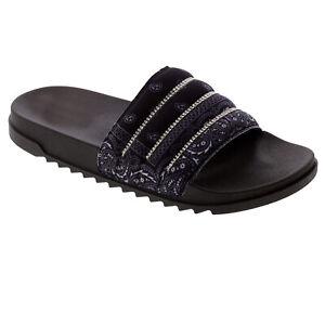 New Women's Rhinestone Comfort Cushioned Band Slide Open Toe Slipper Flat Sandal
