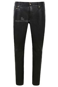 Ladies Leather Pant Black Jeans Casual Style Pant Real Lambskin Trousers 4532