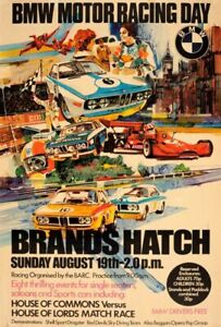 BMW MOTOR RACING DAY Wall Poster 24 x 36 inch Vintage Retro Promo Poster