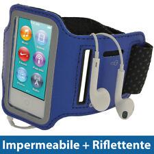 Blu Sports Armband per Apple iPod Nano 7 Gen Generazione 7G 16GB Fascia Braccio