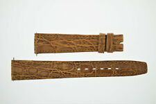OMEGA NOS Vintage Leather Watch Strap Brown 17/14 17mm (B197)