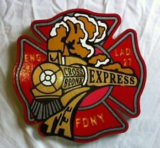 Fire Department New York Bronx 3D routed carved custom patch sign  Custom