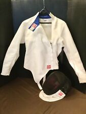 Allstar Fencing Jacket & Helmet -Jacket is Germany size 50, USA size 40 (medium)