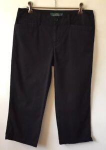 Ralph Lauren Lauren Black Crop Pants Size 2