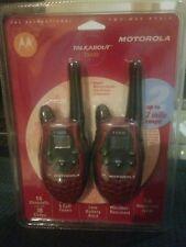 Motorola Talkabout T5420 2 Way Radio Hand Held Walkie Talkies Red Pocket New