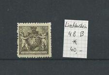 Briefmarken aus Liechtenstein mit Falz