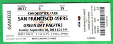 9/8/13 FULL TICKET-49ERS/PACKERS-EDDIE LACY NFL DEBUT-CANDLESTICK PARK'S LAST YR