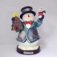 Thomas Kinkade Figurine - Stonehearth Hutch Snowman New Item 1513888019 COA