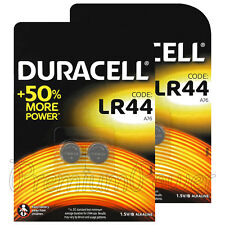 4 x Duracell Alkaline LR44 batteries 1.5V A76 AG13 L1154 Coin Cell Pack of 2