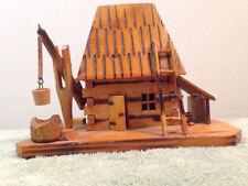 Handmade Wood Cabin Lodge Decor Wilderness Forest Logs Nature Naturist Crane