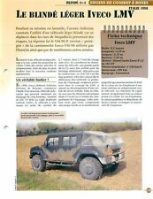 """Iveco LVM 4X4 """"Jeep"""" Italy Italia Italie Tank Char FICHE FRANCE"""