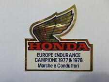 VECCHIO ADESIVO MOTO ORIGINALE / Old Sticker HONDA CAMPIONE 1977-1978 (cm 9 x 9)