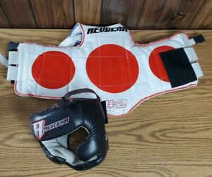 Revgear Martial Arts Sparring Chest Guard and headgear see photos