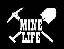 Coal Miner Shovel Pick Mine Life Vinyl Sticker Decal for Truck Car Laptop