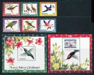 Grenada 1998 fauna  birds christmas nice set+2s/s MNH