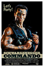 24X36Inch Art COMMANDO Movie Poster 1985 Arnold Shwarzenegger Terminator P01