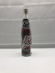 1980 Coke Bottle Georgia Bulldogs Red and Black Sand