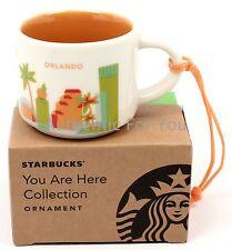 NEW Starbucks You Are Here YAH Collection ORLANDO Mug Christmas Ornament