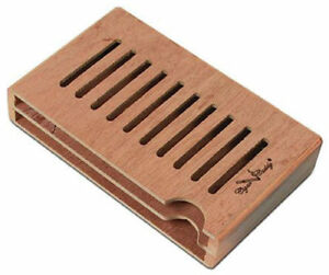 Small Boveda Humidor Spanish Cedar Wood Packet Holder Holds 2 Humidipaks - 3234