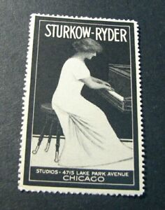 Advert. Stamps for Sturkow-Ryder Piano Studios Mint L398
