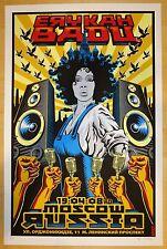 2008 Erykah Badu - Moscow Silkscreen Concert Poster s/n by Emek