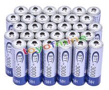 30x Aa 3000 Mah 1.2 V Ni-mh Batería Recargable Bty Celular Para Mp3 Rc Juguetes Cámara