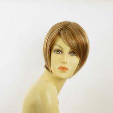 Perruque femme courte blond foncé méché blond clair ALINE F27613