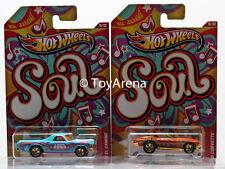 Hot Wheels Jukebox Soul '68 El Camino & '65 Corvette Wal-Mart Exclusive 2013 Lot