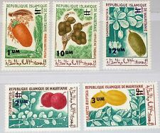 MAURITANIA MAURETANIEN 1975 501-05 323-27 Fruits Früchte ovp Flora Pflanzen MNH