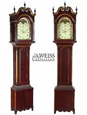 "SWC-Painted Tall Case Clock, signed ""Josiah Smith, PA, c.1800"