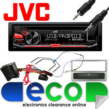 Vauxhall Astra H MK5 JVC CD MP3 USB Car Stereo & SILVER Fitting Kit + Jack Cable
