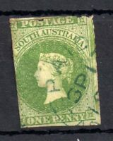 South Australia 1d green Rouletted fine used SG13 WS10396