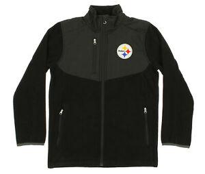 NFL Youth Pittsburgh Steelers Tactical Polar Fleece Full-Zip Jacket