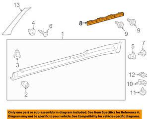 Scion TOYOTA OEM 11-16 tC Exterior-Rocker Molding Bracket Right 7693121030