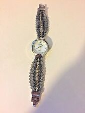 Gently worn, Chico's quartz watch with small 3 tone mixed metal chains for strap