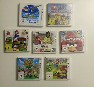 Nintendo 3DS Spiele MarioTennis Super Mario 3D Land  Animal Crossing Lego City