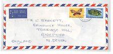 PAPUA NEW GUINEA Cover *Port Moresby* Air Mail 1979 LIZARDS BUTTERFLIES BT239